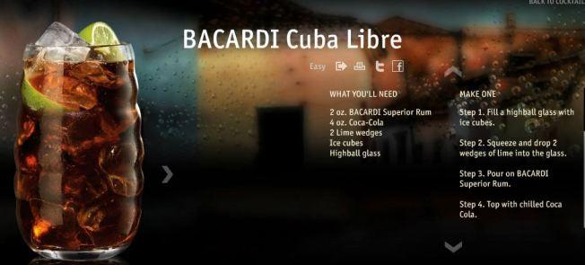 Classic Cuba Libre  Bacardi.com