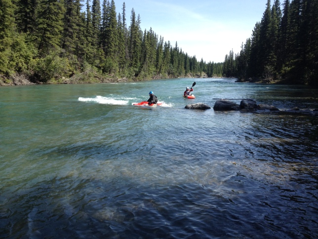Kayakers, Kananaskis Country