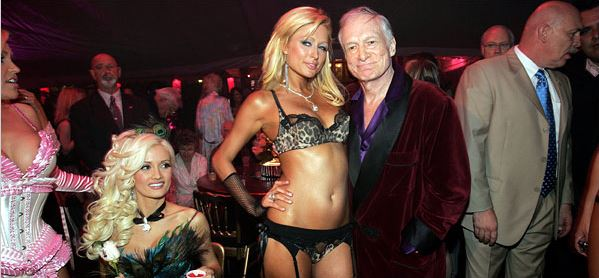 Hef and Paris; NYTimes.com